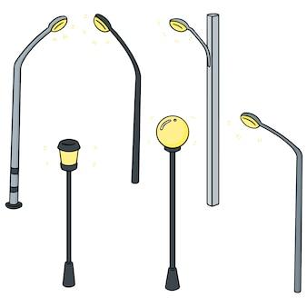 Set vettoriale di lampada da esterno