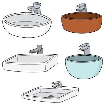 Set vettoriale di lavello