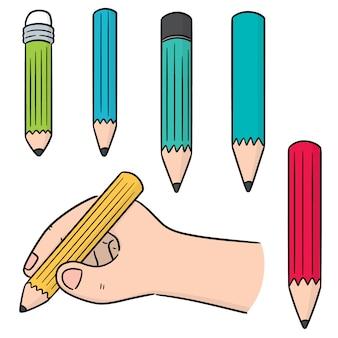Set vettoriale di matita