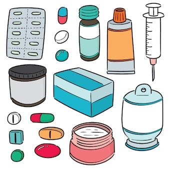 Set vettoriale di medicina