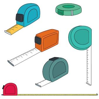 Set vettoriale di nastro di misurazione