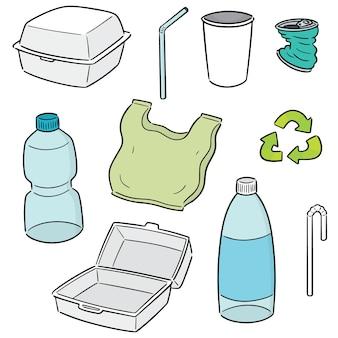 Set vettoriale di oggetto da riciclare