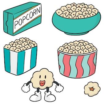 Set vettoriale di popcorn