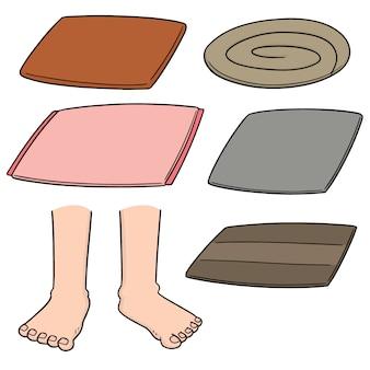 Set vettoriale di pulizia del piede