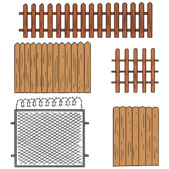 Set vettoriale di recinzione