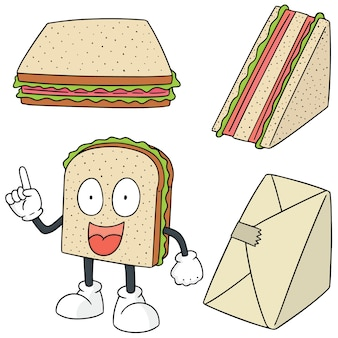 Set vettoriale di sandwich