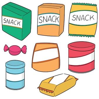 Set vettoriale di snack