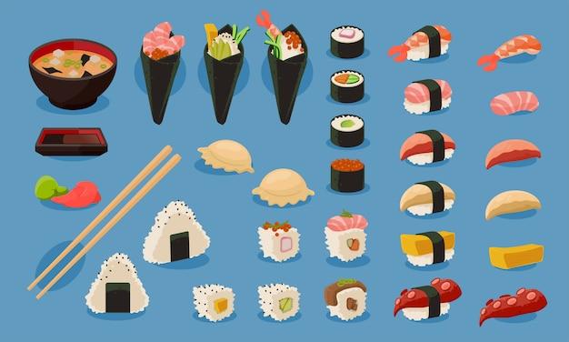 Set vettoriale di sushi
