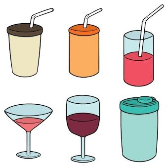 Set vettoriale di tazza di bevanda