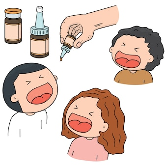 Set vettoriale di vaccino antipolio orale
