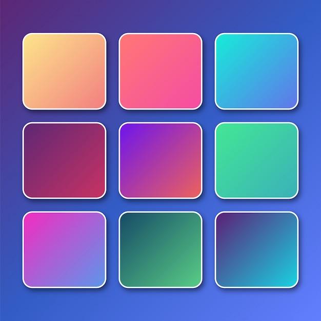 Set vibrante luminoso di sfondo sfumato