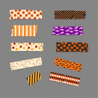 Set washi tape di halloween e d'autunno