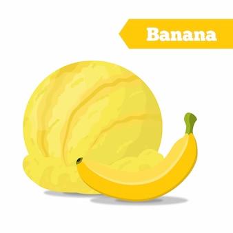 Sfera di gelato alla banana