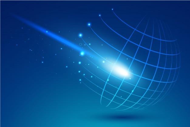Sfera tecnologica di punti e curve