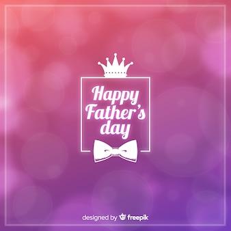 Sfocato sullo sfondo del giorno del padre