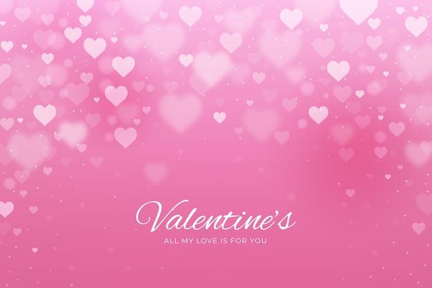 Sfocato sullo sfondo di san valentino