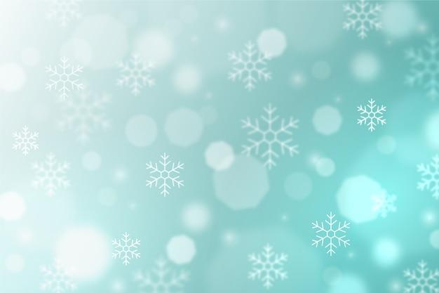 Sfocato sullo sfondo invernale