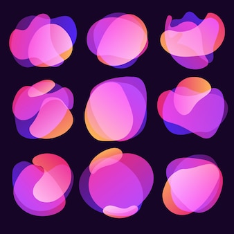 Sfocatura astratta forma libera forme sfumatura di colore colori iridescenti effetto transizione morbida, illustrazione eps10