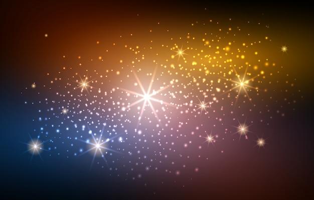 Sfocatura festosa sfondo spazio oro