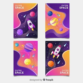 Sfondi colorati dello spazio esterno