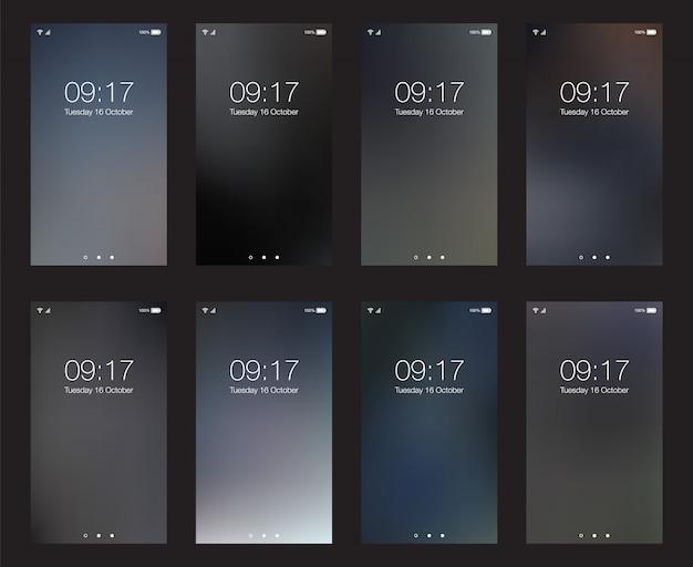 Sfondi hd verticale di affari per smartphone mobile schermo wallpaper set