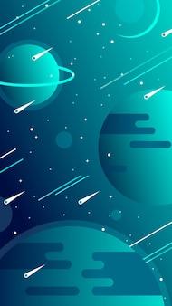 Sfondi mobili dell'universo con pianeti