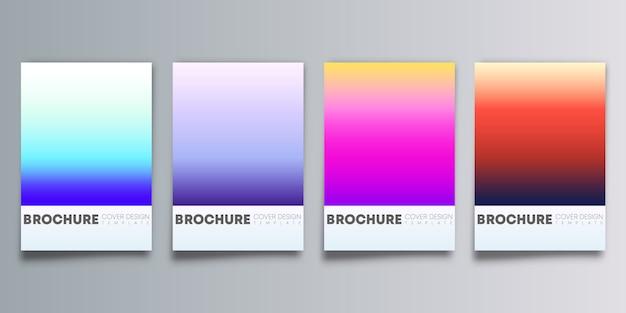 Sfondi sfumati colorati impostati per flyer