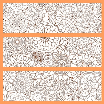 Sfondi verticali con stile doodle