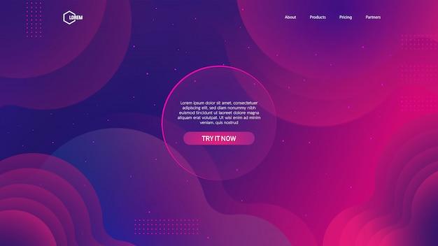Sfondo a colori liquidi per pagina web di destinazione