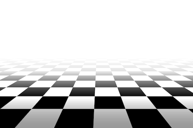 Sfondo a scacchi in prospettiva