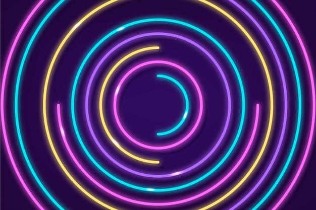 Sfondo a spirale astratto luci al neon