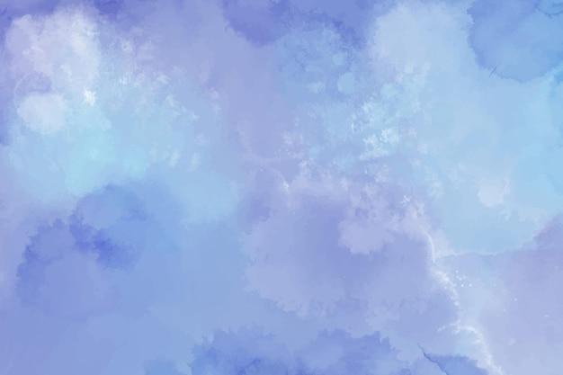 Sfondo acquerello con macchie blu