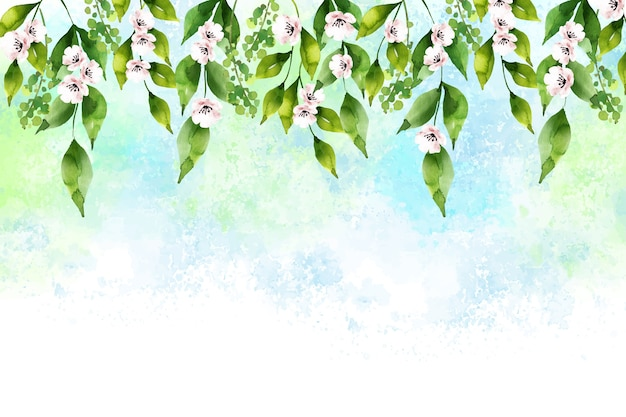 Sfondo adorabile primavera ad acquerello