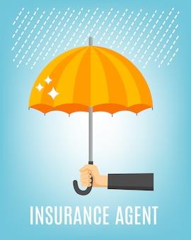 Sfondo agente di assicurazione