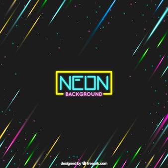 Sfondo al neon con luci colorate