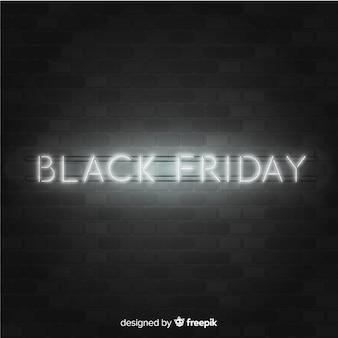 Sfondo al neon di vendita venerdì nero