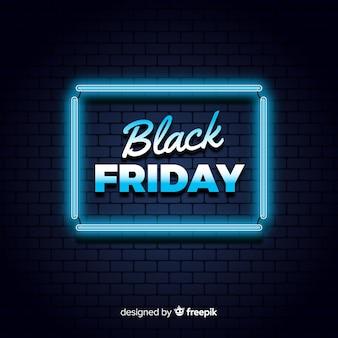 Sfondo al neon di venerdì nero
