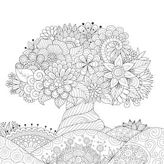 Sfondo albero ornamentale