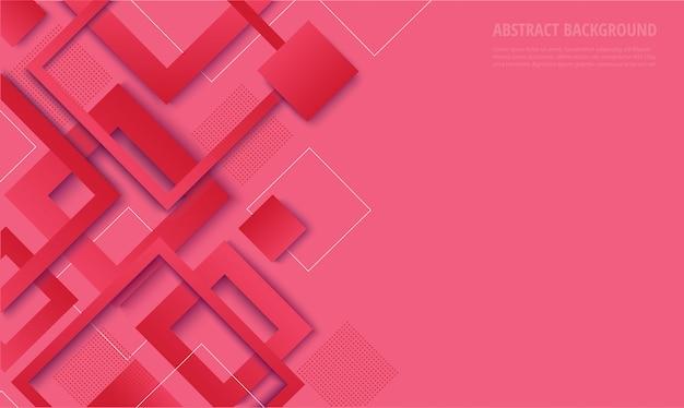 Sfondo alla moda gradiente quadrato rosa moderno