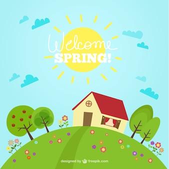 Sfondo allegro primavera