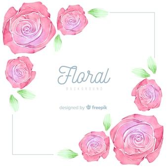 Sfondo angolo di rosa di primavera