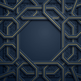 Sfondo arabo motivo geometrico