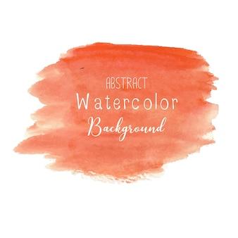 Sfondo arancione acquerello astratto