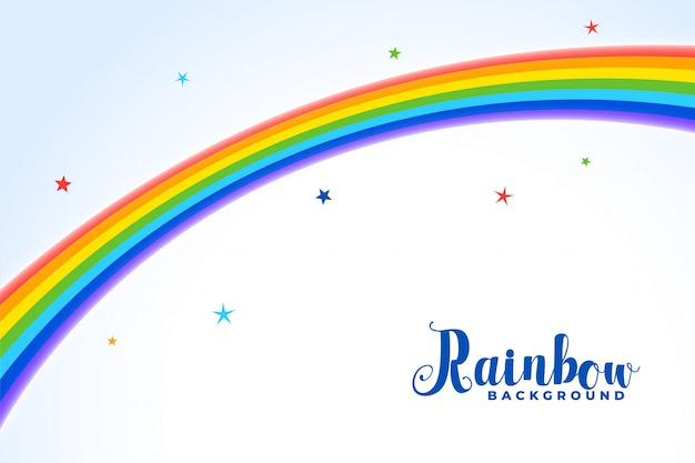 Sfondo arcobaleno con stelle colorate