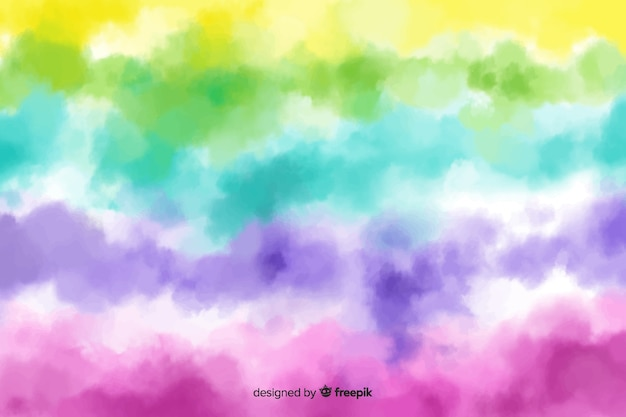Sfondo arcobaleno stile tie-dye