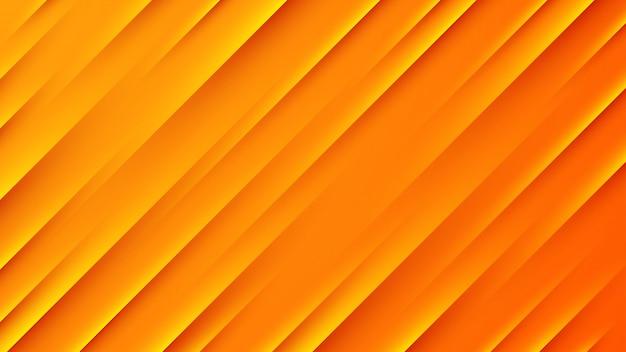 Sfondo astratto arancione con linee rette scure e chiare.
