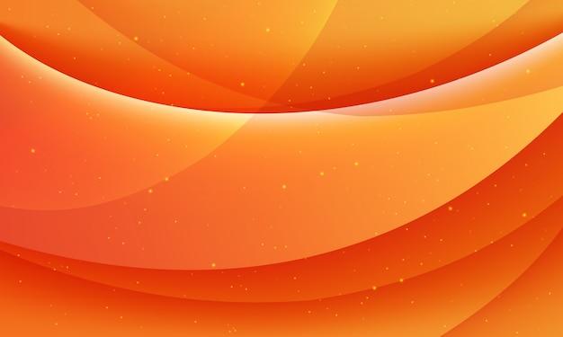Sfondo astratto arancione moderno con onde o modello ondulato.