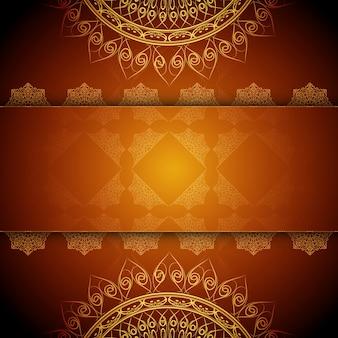 Sfondo astratto artistico di design mandala di lusso