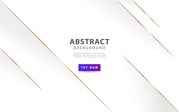 Sfondo astratto bianco di lusso con linea dorata