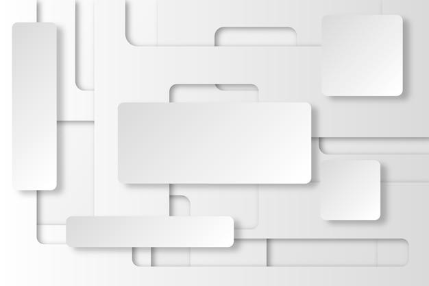 Sfondo astratto bianco in stile carta 3d